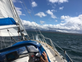 Elina entering Loch Gairloch